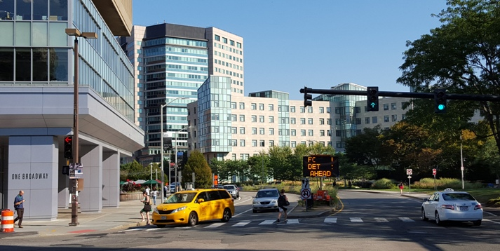 Kendall Square with MIT Sloan in the background